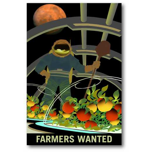 "Farmers Wanted 12""x18"" Gallery-Wrapped Canvas Wall Art"