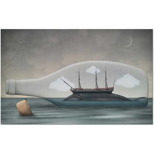 Voyage in a Bottle  Gallery-Wrapped Canvas Wall Art