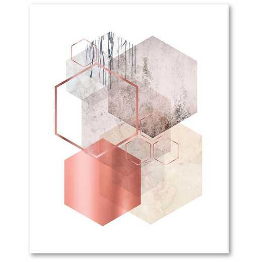 Hexagonal Geo I  Gallery-Wrapped Canvas Wall Art