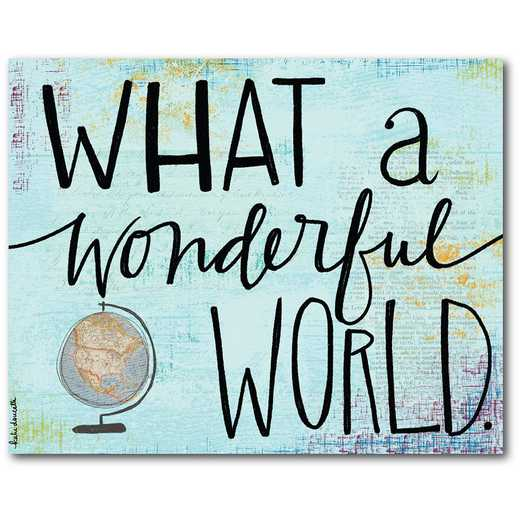 What a wonderful world  Gallery-Wrapped Canvas Wall Art