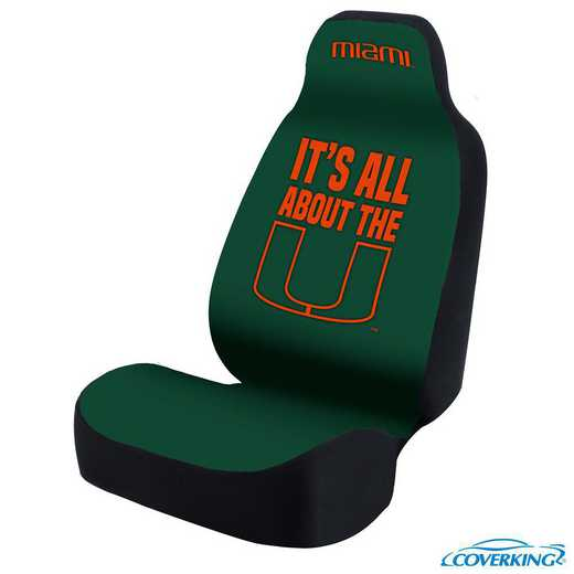 USCSELA122: Universal Seat Cover for University of Miami