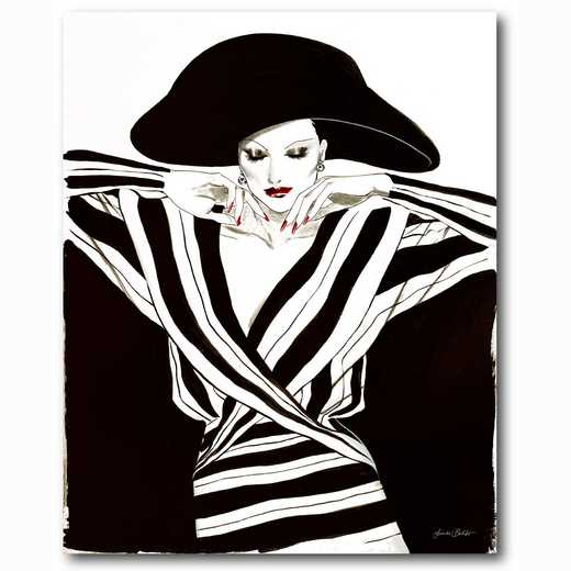 WEB-FD105-16x20: Black and White Fashion II, 16x20