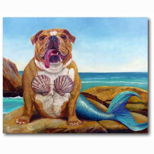 WEB-MV266-16x20: Mermaid Dog , 16x20