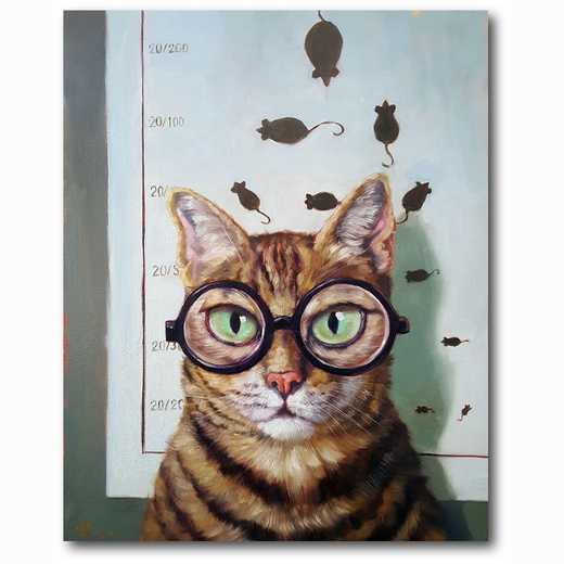 WEB-MV269-16x20: Feline Eye Exam , 16x20