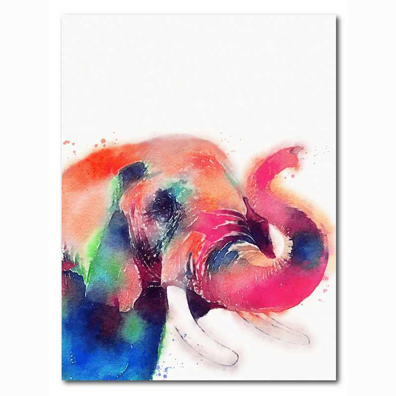 WEB-MV362-18x24: Colorful Elephant , 18x24