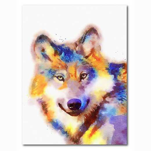 WEB-MV363-18x24: Colorful Wolf , 18x24