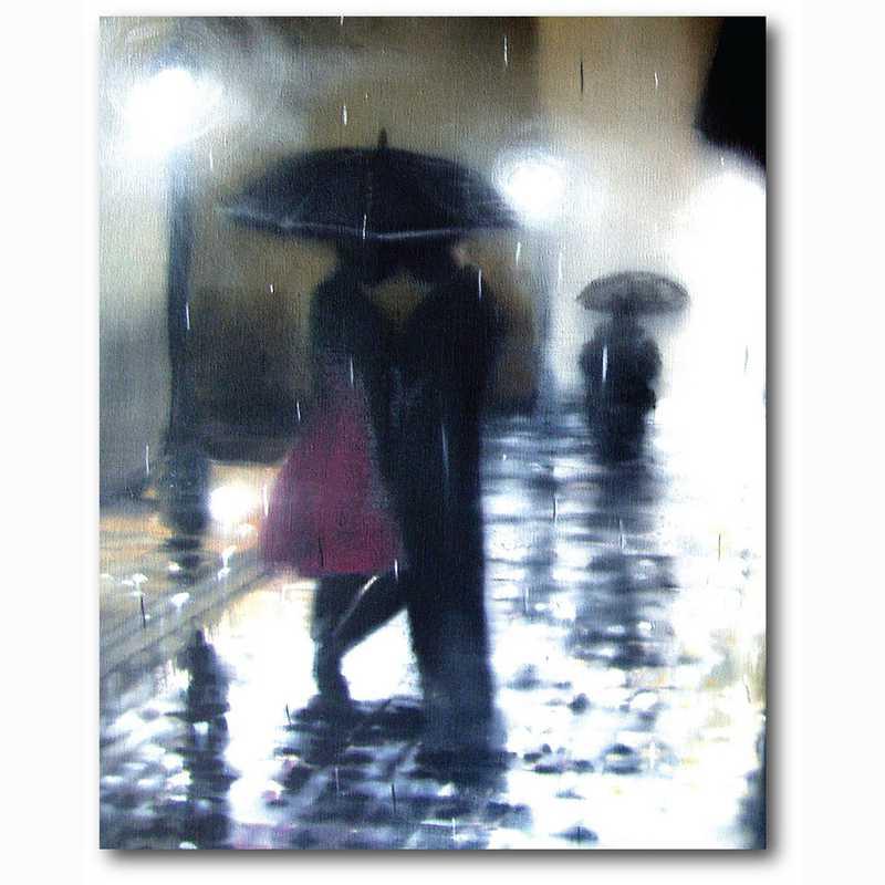 WEB-MV392-18X24: Romance in the Rain II , 18x24