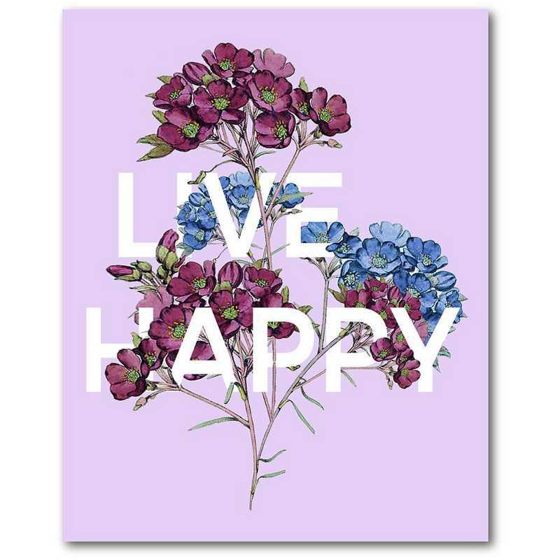WEB-T977-16x20: CM I'll live happy  Wall Art- 16