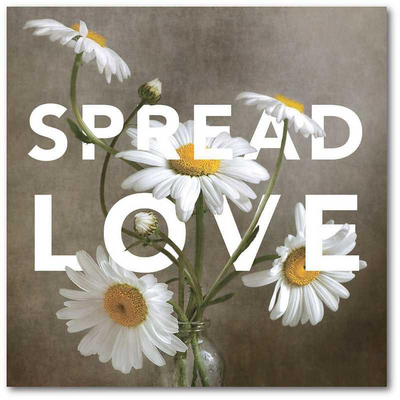 WEB-T979-16x16: CM Spread the love  Wall Art- 16