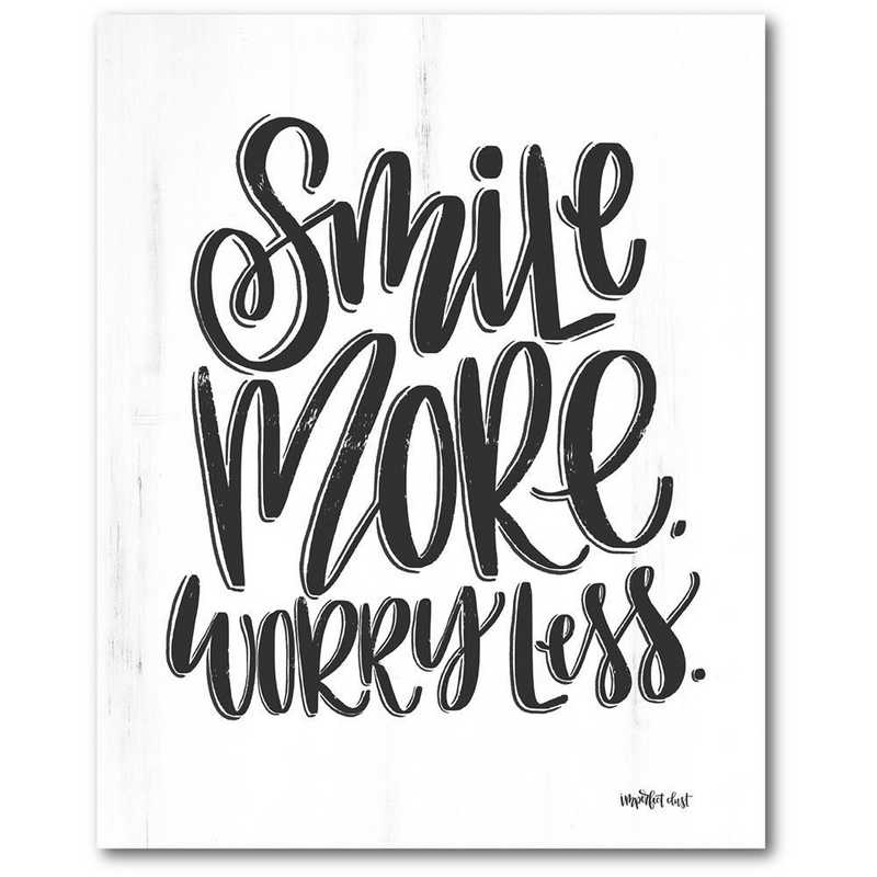 WEB-T983-16x20: CM Smile More  Wall Art- 16