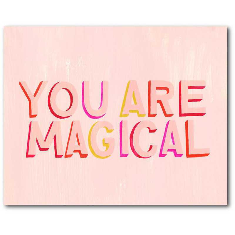 WEB-TS296-16x20: CM You are magical  Wall Art- 16