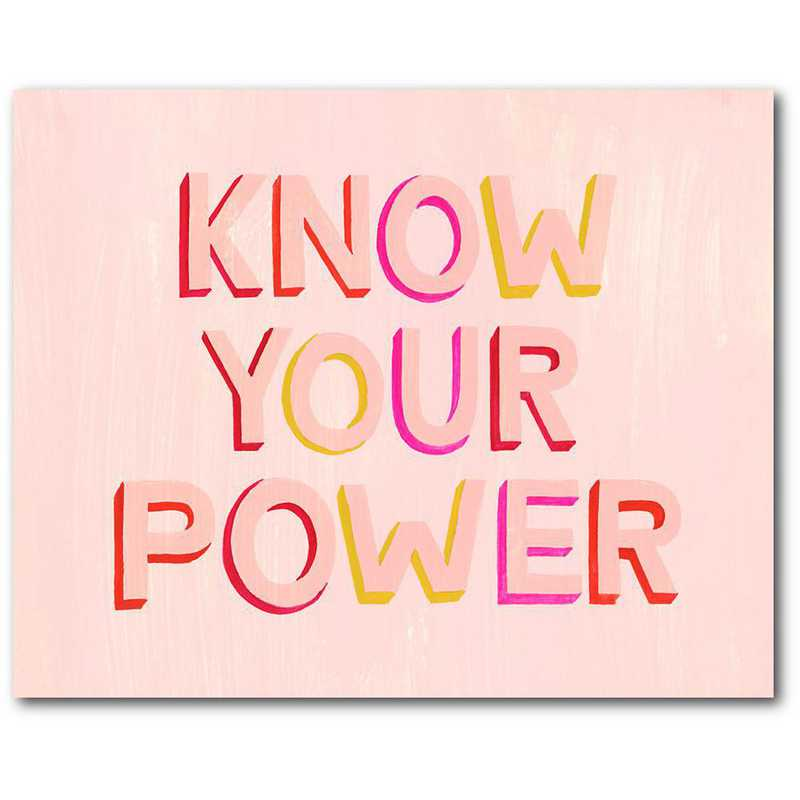 WEB-TS297-16x20: CM Know your power  Wall Art- 16