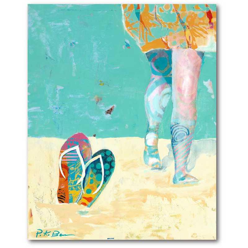 WEB-TS303-16x20: CM Flip Flop  Wall Art- 16