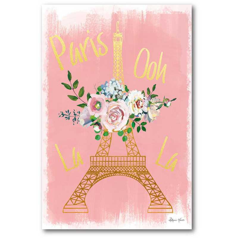 WEB-TS304-12x18: CM Paris blush  Wall Art- 12