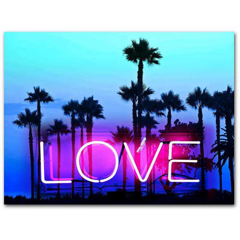 WEB-TS312-16x20: CM Neon Love  Wall Art- 16
