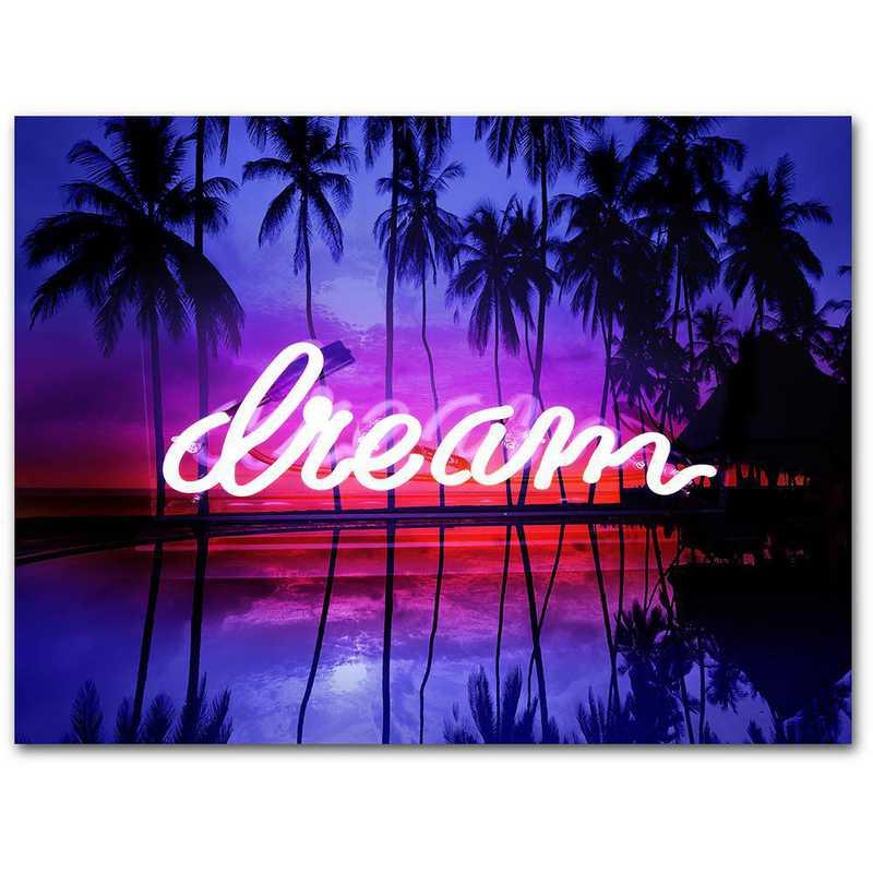 WEB-TS313-16x20: CM Neon Dream  Wall Art- 16