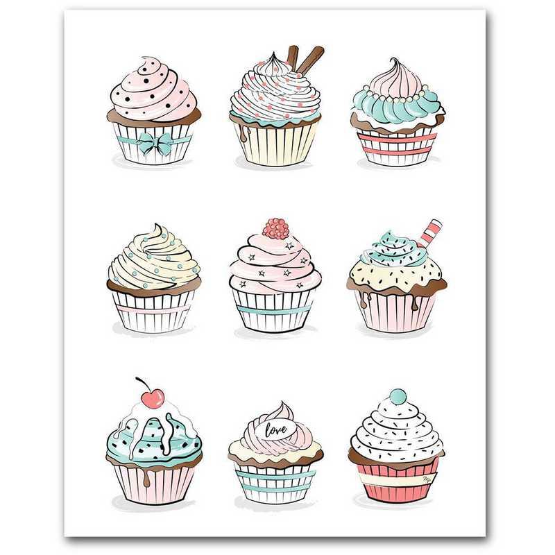 WEB-TS314-16x20: CM Cupcakes  Wall Art- 16