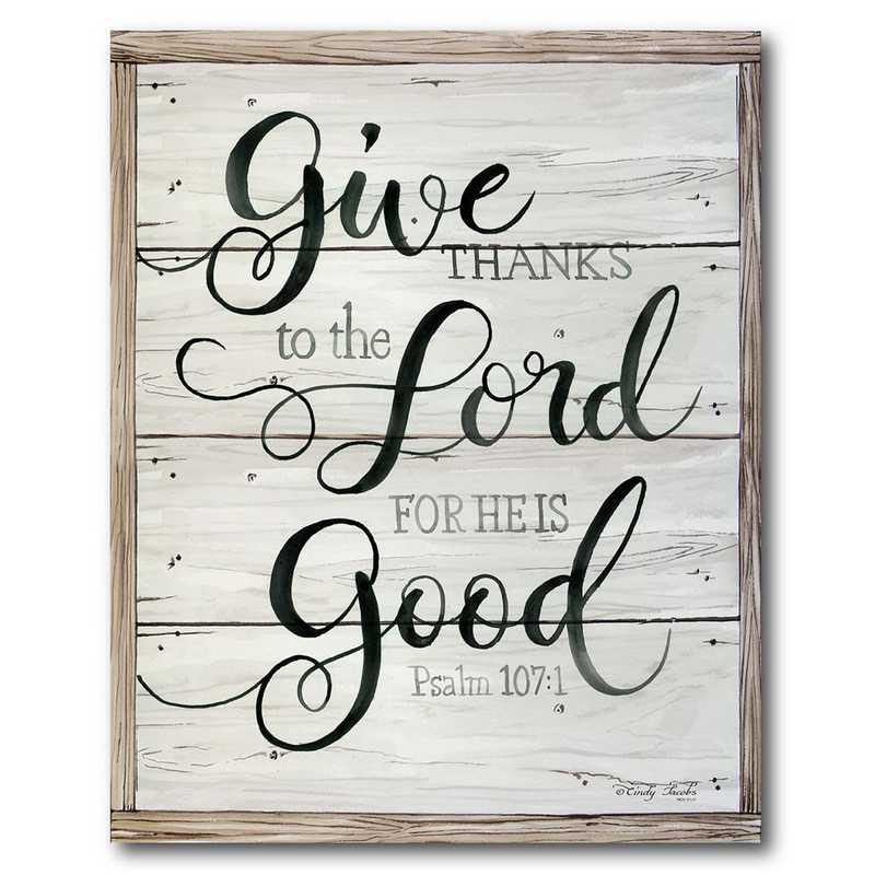 WEB-FF1233-16x20: CM Give Thanks to the Lord Canvas , 16x20