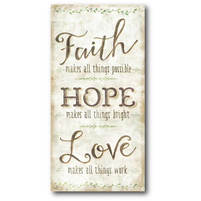WEB-IF144-12x24: CM Faith & hope  Canvas  - 12x24