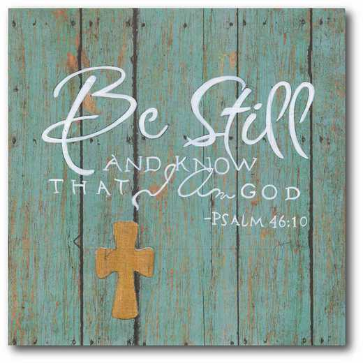 WEB-IF162-16x16: CM Be Still and know I am God  Canvas  - 16x16