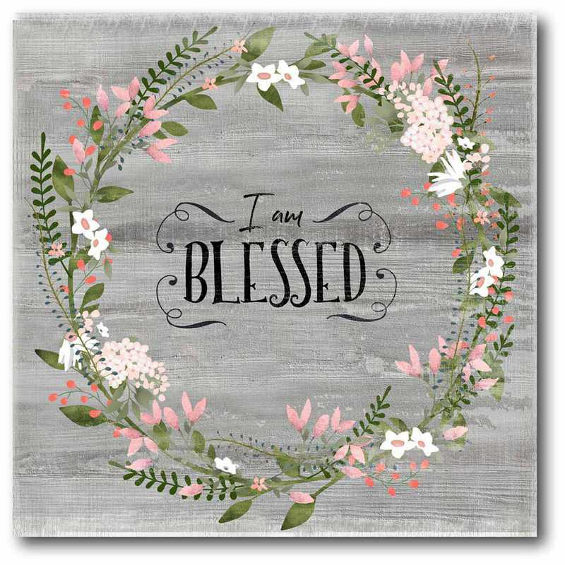 WEB-IF186-16x16: CM Iam Blessed  Canvas  - 16x16