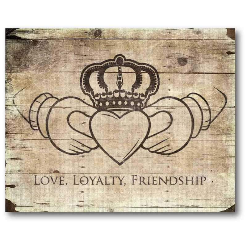WEB-IR131-16x20: CM Love - Loyaily - Freindship  Canvas  - 16x20