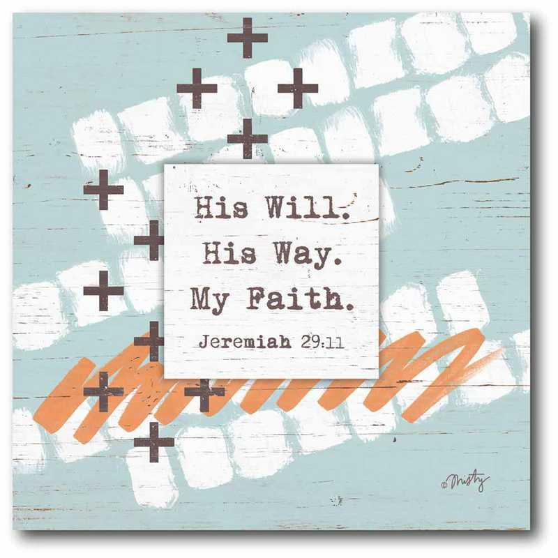 WEB-JV751-16x16: CM His Will  Canvas  - 16x16