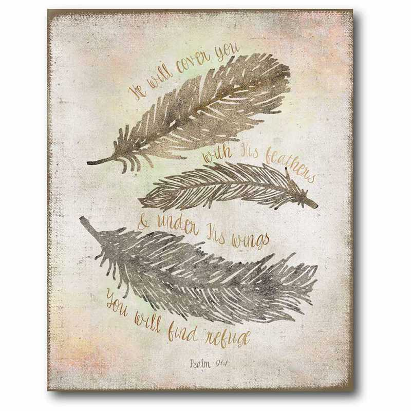 WEB-T476-16x20: CM Faith & Feather  Canvas  - 16x20