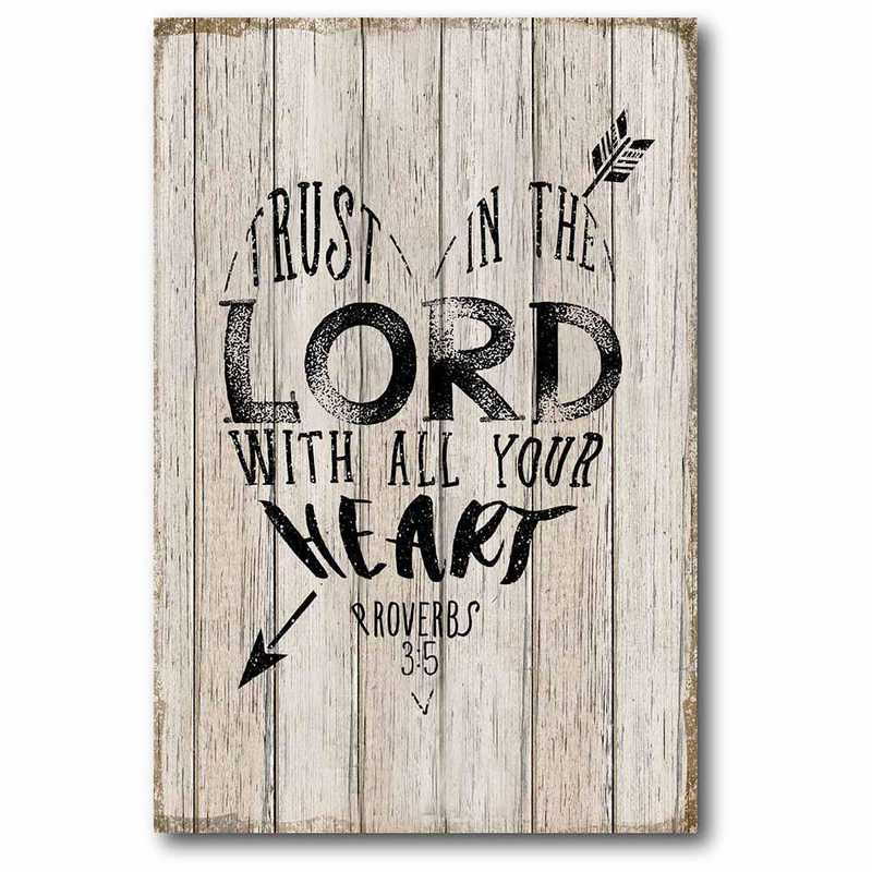 WEB-T756-12x18: CM Trust In The Lord  Canvas  - 12x18