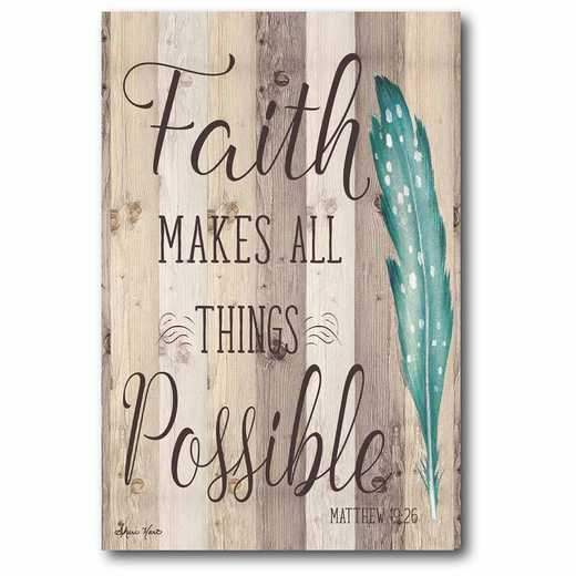 WEB-T820-12x18: CM Faith makes all things Possible  Canvas  - 12x18