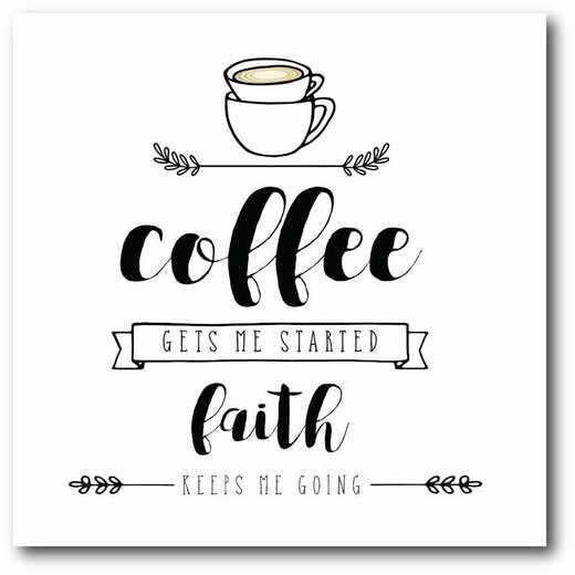 WEB-T836-16x16: CM Faith Keeps Me Going  Canvas  - 16x16