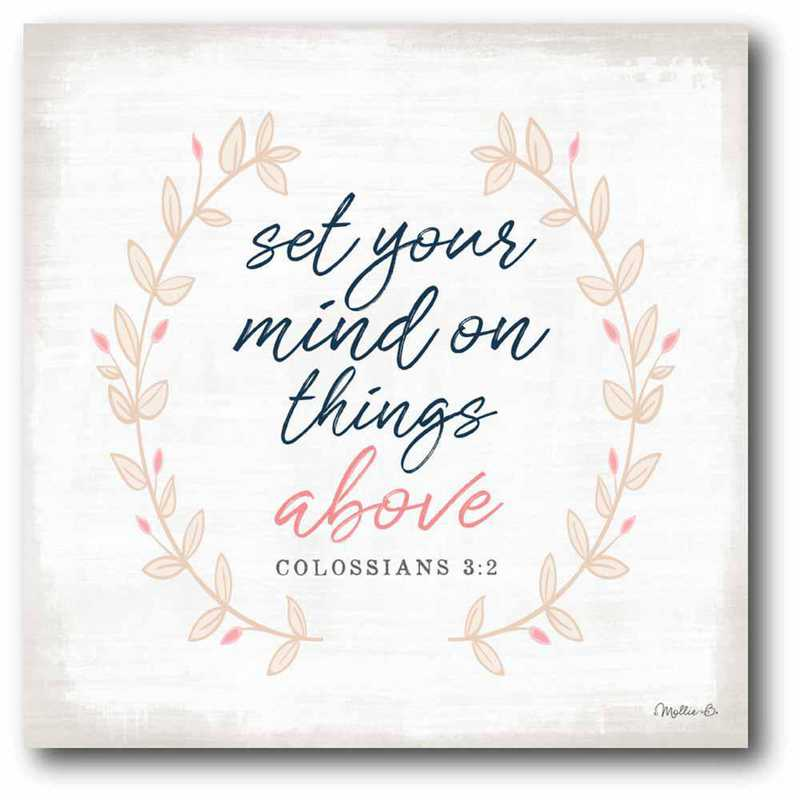 WEB-T936-16x16: CM Set Your Mind on Things Above  Canvas  - 16x16