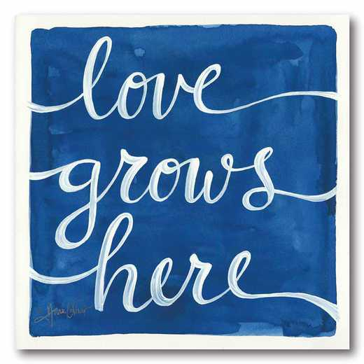 WEB-T9463-16x16: CM Love Grows Here  Canvas  - 16x16