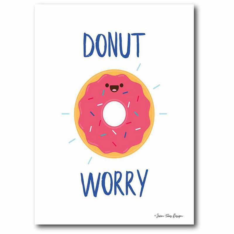 WEB-T9474-12x18: CM Donut Worry  Canvas  - 12x18