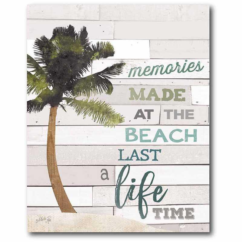 WEB-T9475-16x20: CM Beach life  Canvas  - 16x20