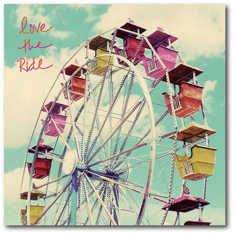 WEB-TS266-16x16: CM Love the Ride  Canvas  - 16x16