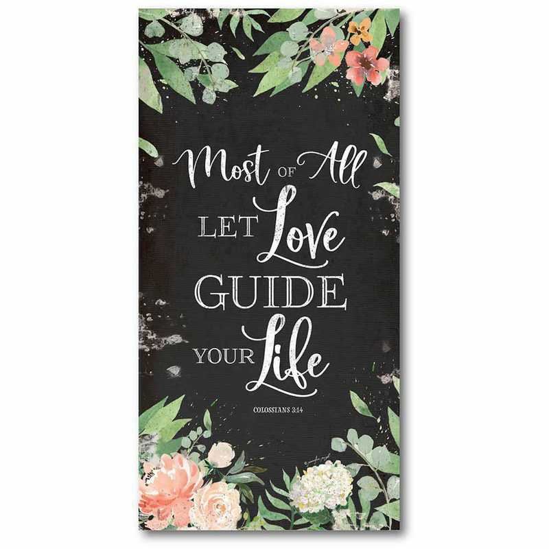 WEB-TYP106-12x24: CM Let love guide your life  Canvas  - 12x24