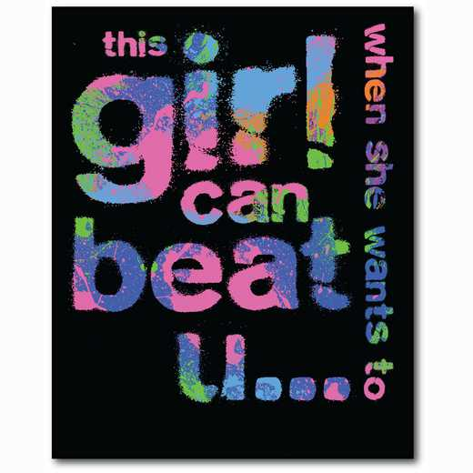 WEB-TS109-16x20: This Girl can Beat You, 16x16