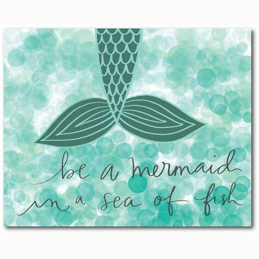 WEB-TS123-16x20: Be a Mermaid Teal, 16x20