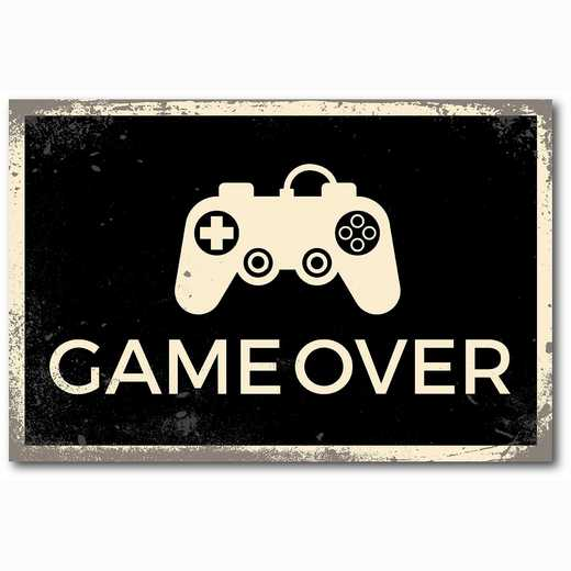 WEB-TS127-12x18: Game Over, 12x18