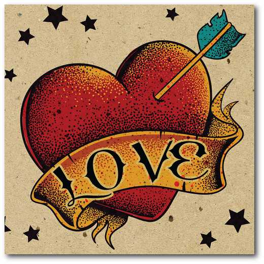 WEB-TS128-16x16: Vintage Love Heart, 16x16