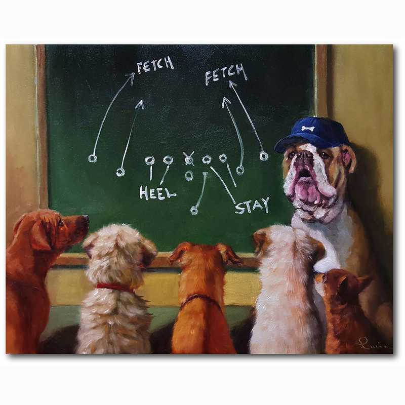 WEB-TS132-16x20: Dogs Football Playtime, 16x20