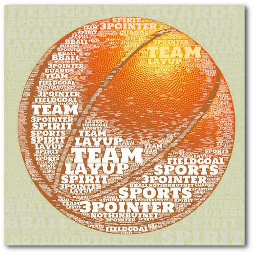 WEB-TS137-16x16: Basketball Sentiment, 16x16