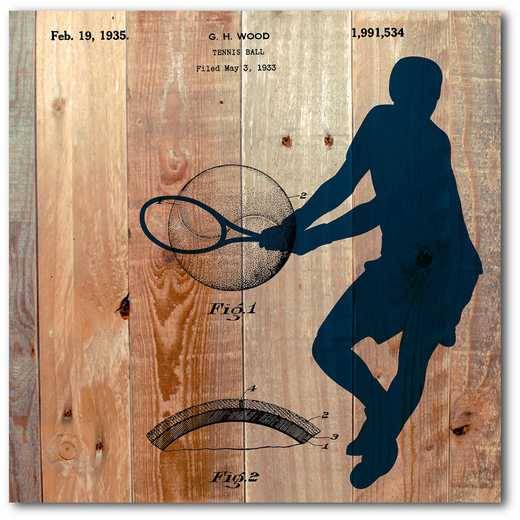 WEB-TS141-16x16: Tennis on Wood, 16x16