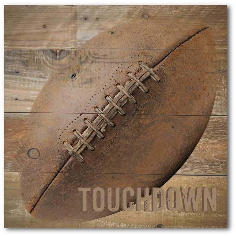 WEB-TS143-16x16: Rustic Football, 16x16