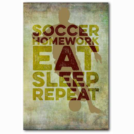 WEB-TS145-12X18: Eat Sleep Repeat Basketball, 12x18