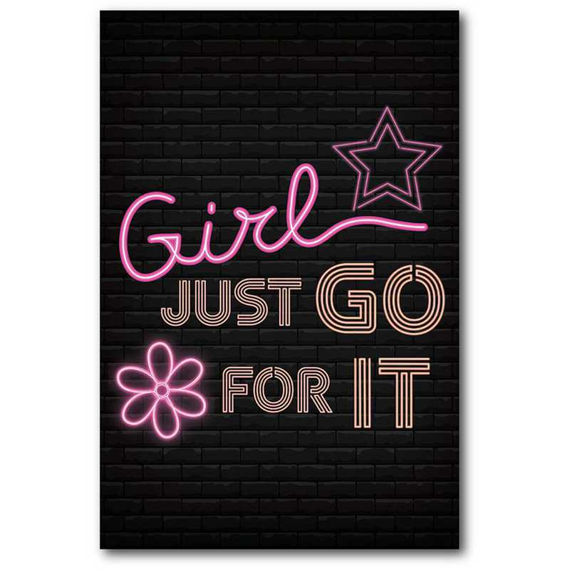 WEB-TS355-12x18: CS Girl Just Go for It  Canvas 12