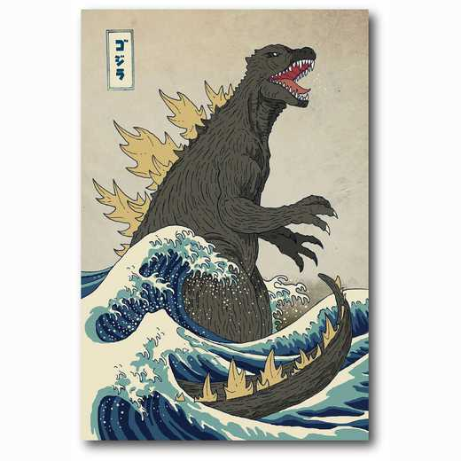 WEB-MV252-12x18: The Great Monster off Kanagawa , 12x18
