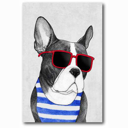 WEB-MV256-12x18: Frenchie Summer Style , 12x18