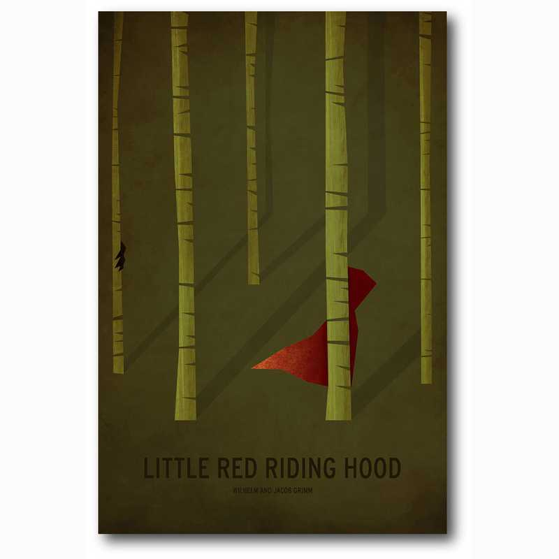 WEB-MV297-12x18: Little Red Riding Hood , 12x18